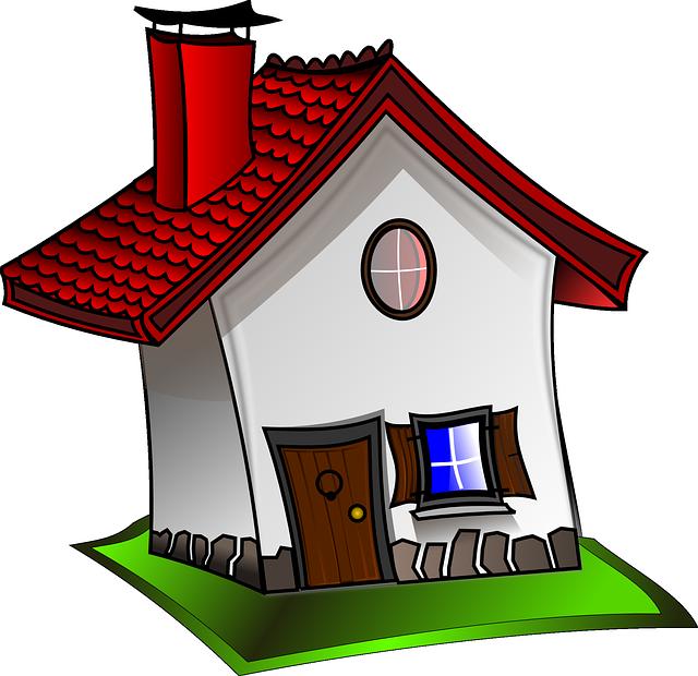 kreslený domek