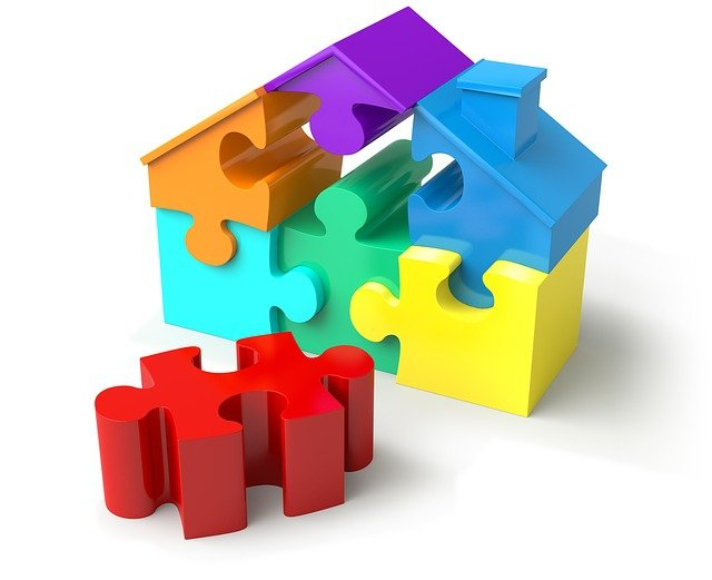 puzzle dům