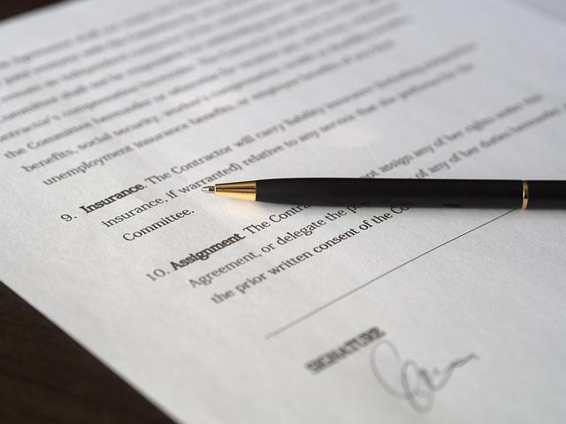 smlouva k podepsání
